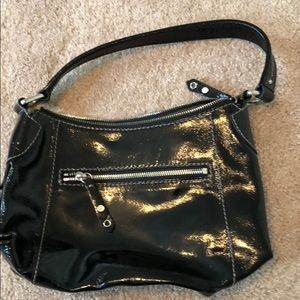 Cole haan patent leather small hobo bag